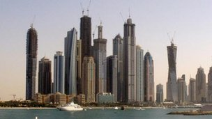 Dubai skyline in 2011
