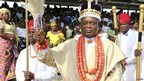 Ebitim Banigo, the paramount chief of Okpoama kingdom in Nigeria - Saturday 27 October 2012