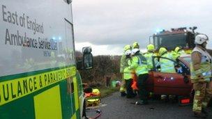 East of England Ambulance Service NHS Trust ambulance