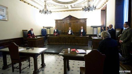 Vatican court room