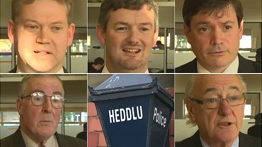 The five candidates standing in North Wales