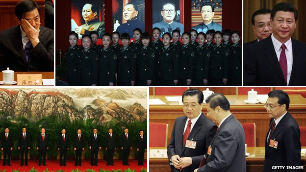 Composite of images on China&#039;s leadership