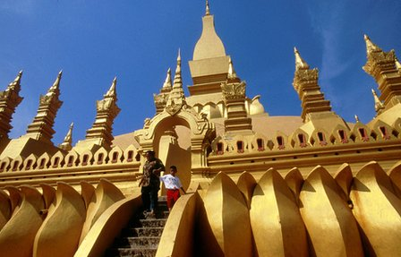 That Luang religious landmark in Vientiane