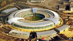 An aerial view of GCHQ