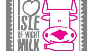 The I love Isle of Wight Milk logo