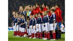 Scotland and Spain line up ahead of the Euro 2012 qualifier