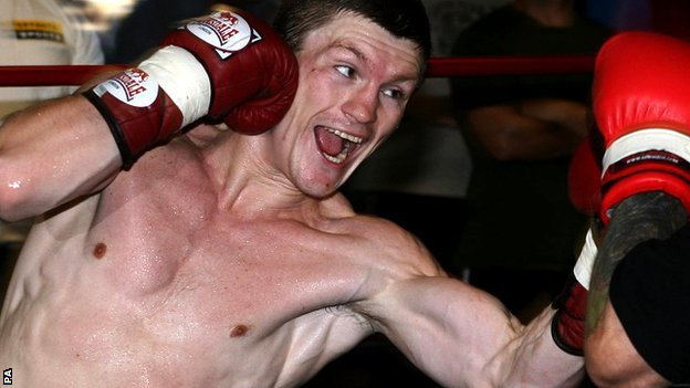 Ricky Hatton in training, circa 2005