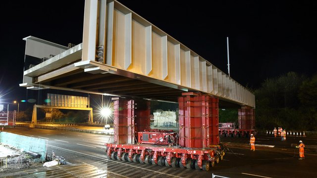 The 580-tonne bridge