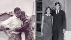 Michelle Robinson and Barack Obama in their early days together (l); Ann Davies and Mitt Romney while dating (r)
