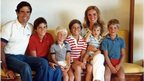 Romney family with five boys: Tagg,  Matthew, Joshua, Benjamin and Craig (not in order pictured), undated, likely early 1980s