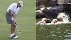 Barack Obama plays golf and Mitt Romney swims in Wolfeboro, New Hampshire 6 July 2012