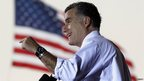 US Republican presidential nominee Mitt Romney speaks at a campaign rally in Sanford, Florida.