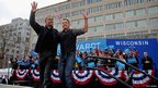 Barack Obama and Bruce Springsteen in Madison, Wisconsin