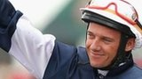 Brett Prebble celebrates Green Moon win