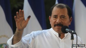 Daniel Ortega after voting in Sunday&#039;s elections