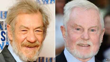 Sir Ian McKellen and Sir Derek Jacobi