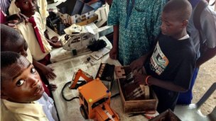 Odo Gerald at the Maker Faire Africa