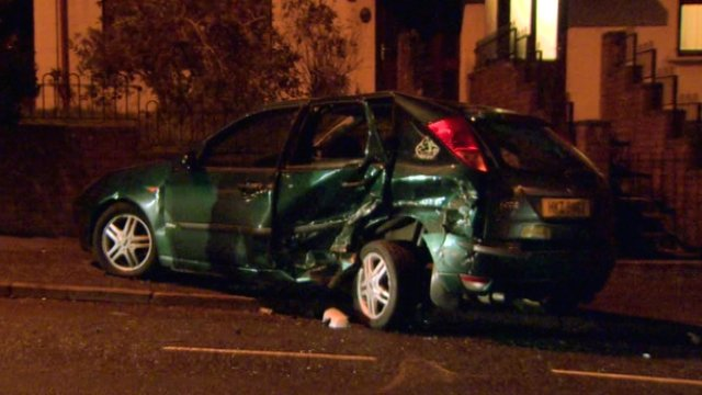 Two children were hurt in the crash in Ballysillan Park