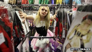 Costume hire shop Angels