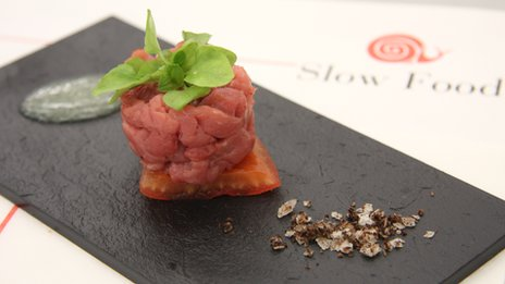 Veal tartare with vinegar