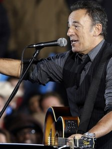Bruce Springsteen at the final Obama rally in Iowa