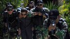 Indonesia's maritime anti terror special forces take part in an anti-terrorist drill