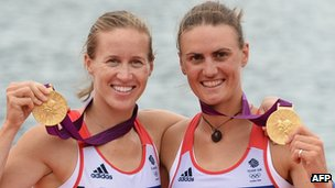 Heather Stanning, right, and Helen Glover