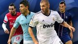 Left to right: Santi Cazorla, Sergio Aguero, Karim Benzema, Zlatan Ibrahimovic