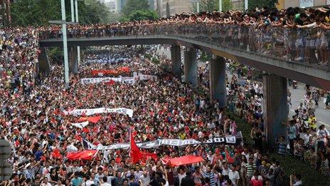 China protests in Sichuan against Diaoyu/Senkaku dispute