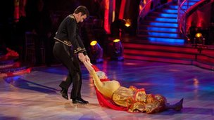 Anne Widdecombe and Anton DuBeke on Strictly Come Dancing