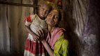 Salma with her three-year-old daughter Nagma who is is in danger of becoming malnourished