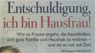 Front page of German newspaper Die Zeit