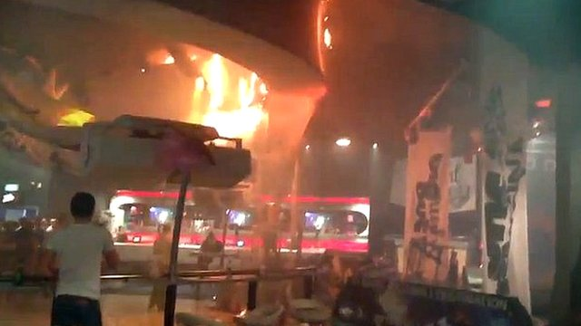 Ceiling on fire in Basildon's Liquid and Envy nightclub