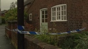 Police tape outside a property in Scalford