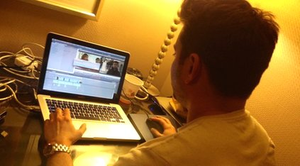 Ricky at work in Washington DC