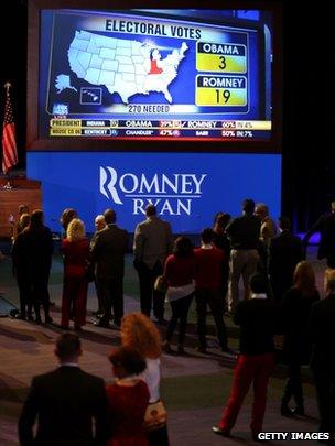 Romney supporters at Boston Republican HQ (6 Nov)