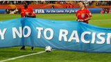 Banner against racism