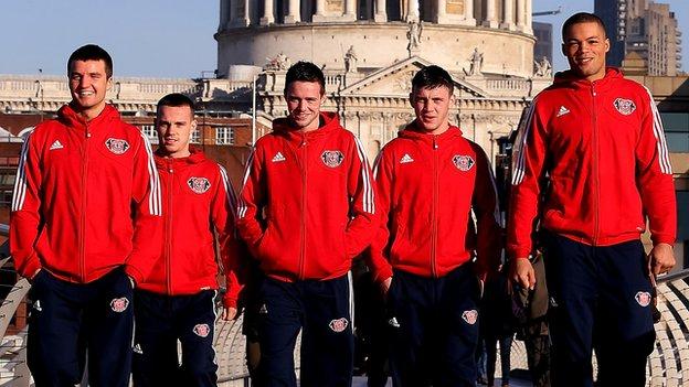 Anthony Fowler, Sean McGoldrick, Josh Taylor, Fred Evans, Joe Joyce
