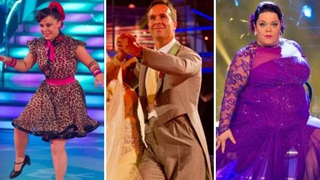 Dani Harmer, Michael Vaughan and Lisa Riley