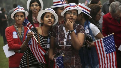 Indian students watch the US election results in Delhi