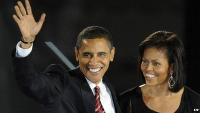 Obamas in 2008