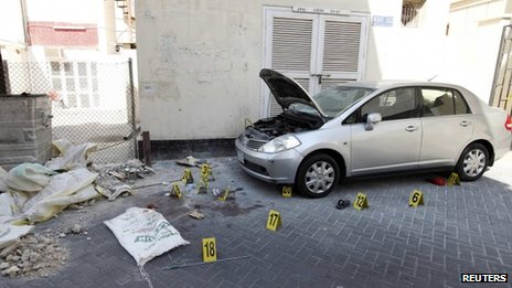 Scene of deadly bombing in Bahrain (5 November 2012)
