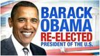 US election graphic of Barack Obama
