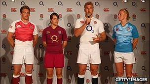 The launch of England's new Canterbury-made kits in autumn 2012