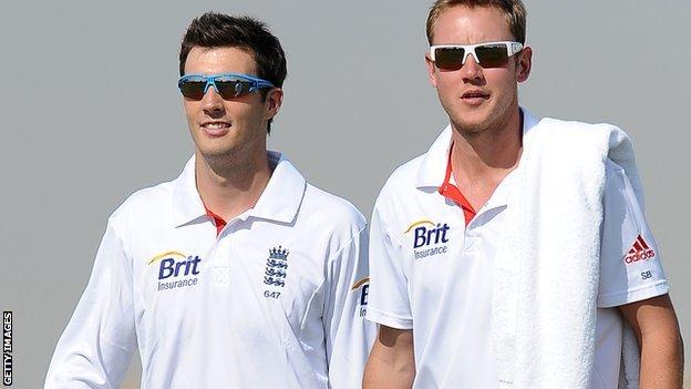 Steven Finn (left) and Stuart Broad