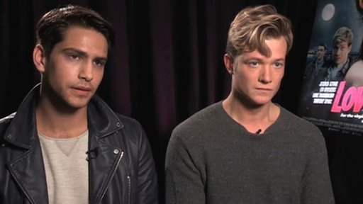 Luke Pasqualino and Ed Speleers