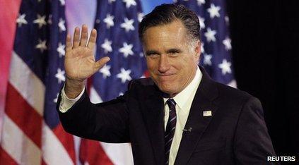 Mitt Romney waving