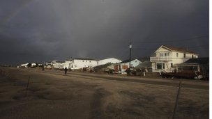 Rainbow over Breezy Point, Queen&#039;s in aftermarth of Sandy