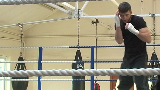 Carl Froch in training