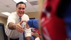 Mitt Romney greets workers at call centre on November 6, 2012 in Pittsburgh, Pennsylvania